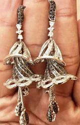 Silver Jhumki Earring