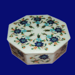Octagonal Marble Inlay Box