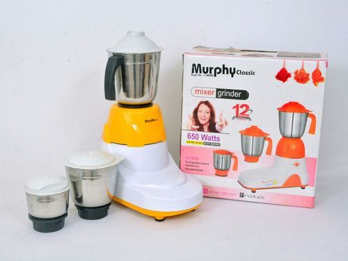 White, Yellow Murphy Classic Mixer Grinder for Home