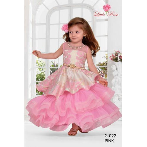 949ec9dfe Cotton Party Wear Kids Baby Pink Frock