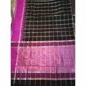 Black, Pink Party Wear Fancy Printed Silk Saree, 6.3 M (with Blouse Piece)