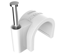Pressfit PVC Cable Nail Clips - 25 mm