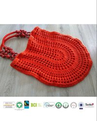 organic cotton multi colour string bag