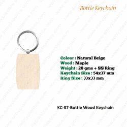 Wooden KeyChain-KC-37-Bottle