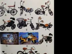 Wooden Iron Cycles And Rikshaw Showpiece, Dust With Dry Cloth
