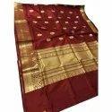 Party Wear Printed Pure Katan Silk Saree, 6 M (with Blouse Piece)