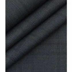 Check Men's Woollen Unstitched Blazer Fabric