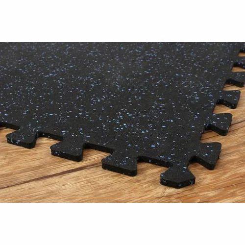 Black Gym Floor Tiles 5 10 Mm Rs 70 Square Feet Rudra Sports