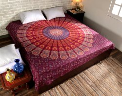 Multi Tapestry Wall Hanging Mandala Tapestries Indian Cotton Bedspread Picnic Bed Sheet Blanket