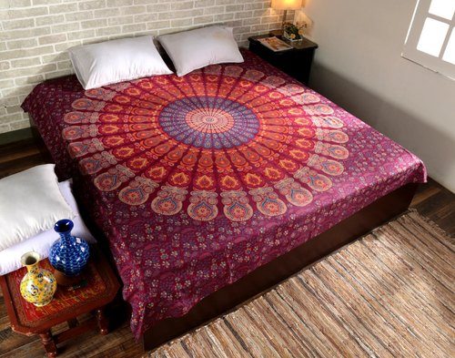 Multi Forest Tree Queen Tapestry Wall Hanging Bedspread Throw Blanket Cotton
