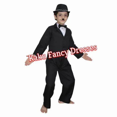 67779a579352f Matty Polyester Boys Kids Charlie Chaplin Costume
