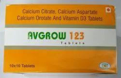Calcium Citrate, Calcium Aspartate Calcium Orotate and Vitamin D3 Tablets