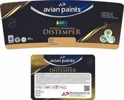 avian paint Water Based Paint Distemper, Packaging Type: Bucket