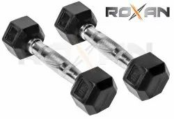 Roxan Hexagon Rubber Dumbbell