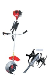 Multipurpose Brush And Paddy Cutter With Tiller Attachment