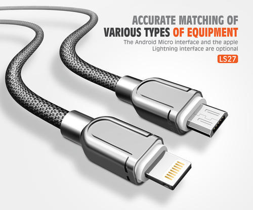Usb Cable For Android: Gold Silver Data Cable USB Cable Ldnio Ls27 For Ios/android Rs 250 rh:indiamart.com,Design