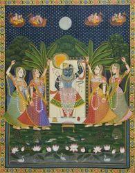 Pichwai Painting Of Shrinathji Krishna