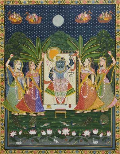 Paintings And Art Pichwai Painting Of Shrinathji Krishna