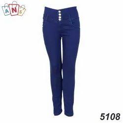 Silky Denim Slim Ladies Blue Stretchable Jeans