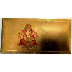 Gold Plated Ganesha Envelopes