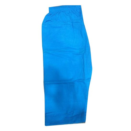 Ladies Plain Blue Cotton Palazzo Pant