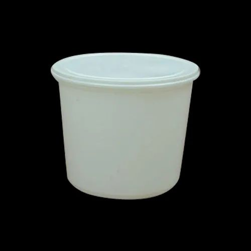 White Round 2500ml Plastic Food Containers