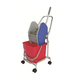 30 ltr Single Mop Down-Press Trolley