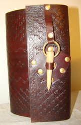 Handmade Leather Journal with Designer Buckle Closure