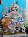Marble Durga Maa Sitting Statue