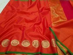 Banarasi Silk Banarasi Saree, 5.5 meter Without Blouse Piece