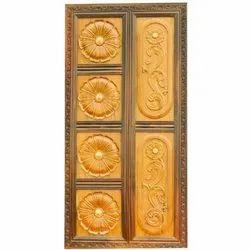 Rosewood Mahalsa Hinged Decorative Doors, Thickness: 5-10 Mm