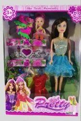 Personal PVC Barbie Doll Set, Plastic Product, 1-8 Yrs