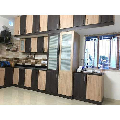 L Shape Modern Wooden Kitchen