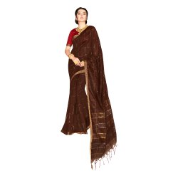 Cotton Silk Designer Weaving  Saree With Blouse Piece