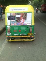 Auto Rickshaw Advertising on Flex