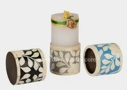 Bone Inlay Candle Stand