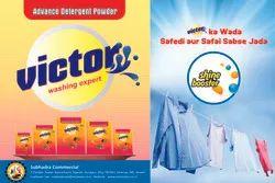 VICTORPLUS High Laundry Detergent Powder, Packaging Type: Packet
