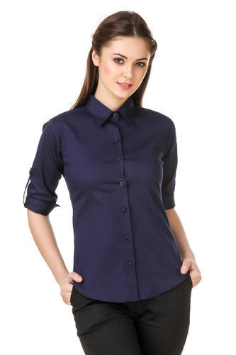 2150d19c0 Cotton Navy Blue Ladies Formal Shirts, Rs 295 /piece, RD Enterprises ...