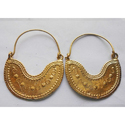 Handmade Gold Plated Brass Earrings