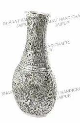 Antique Metal Oxidized Flower Vase