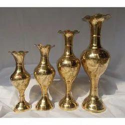 Hand Engraved Brass Flower Vase