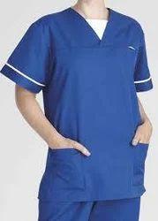 Unisex Blue Scrub Uniform, Size: XL