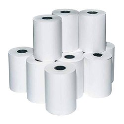 Plain White Thermal Paper Rolls, Packaging Type: Box