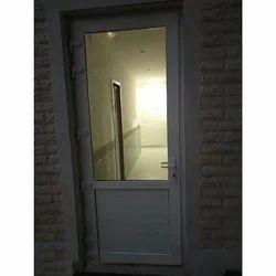 Toughened Glass L Handle Aluplast UPVC Door
