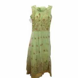 Georgette Embroidered Ladies Designer Wedding Dress