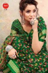 Apple Liva Linen Satin Fabric Saree Catalog Collection