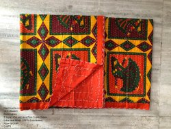 Jaipur Print Multicolor Cotton Dohar AC Blanket, Size: 90*108
