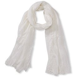 Cotton White Scarves