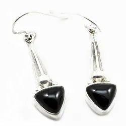 925 Black Onyx Earrings