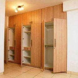 Brown Wooden Modular Wardrobe, Height: 8 to 10 feet
